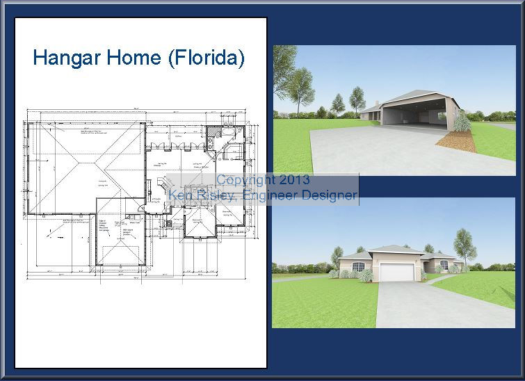 Airpark Hangar Home Plans