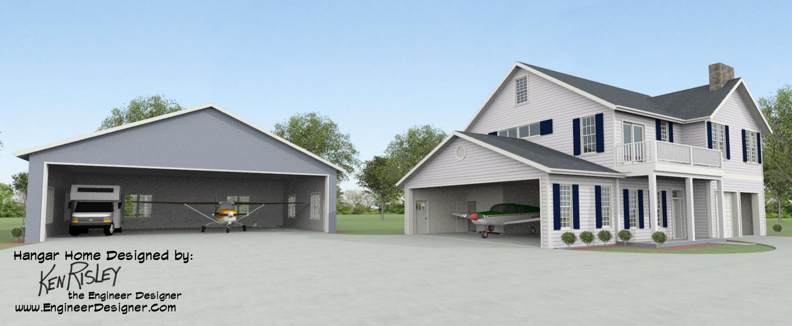 When Considering A Hangar Home Design These Points Should Be Kept ...