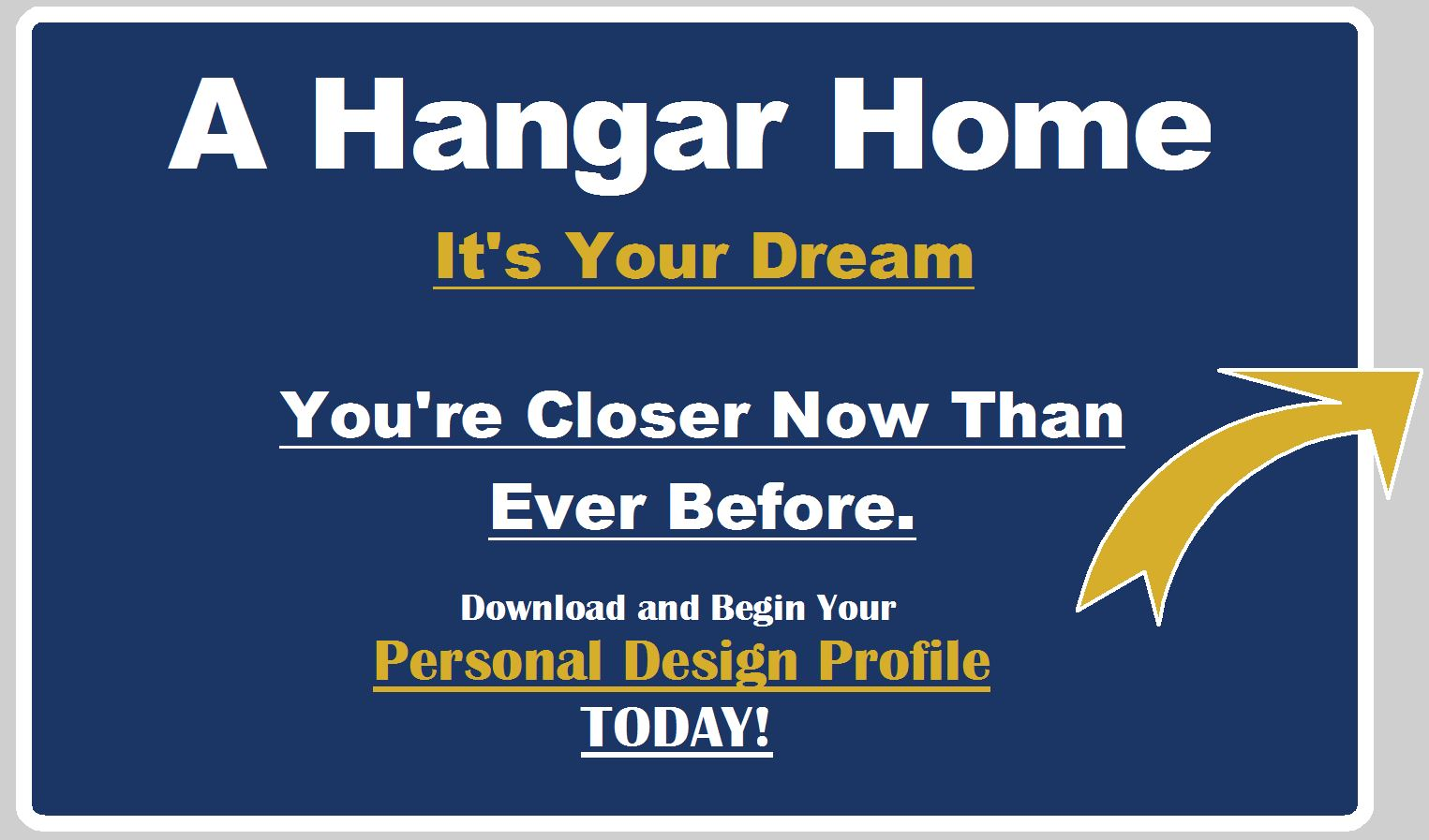 Hangar Home Designer. It takes one to know one. Airport Home Designer.